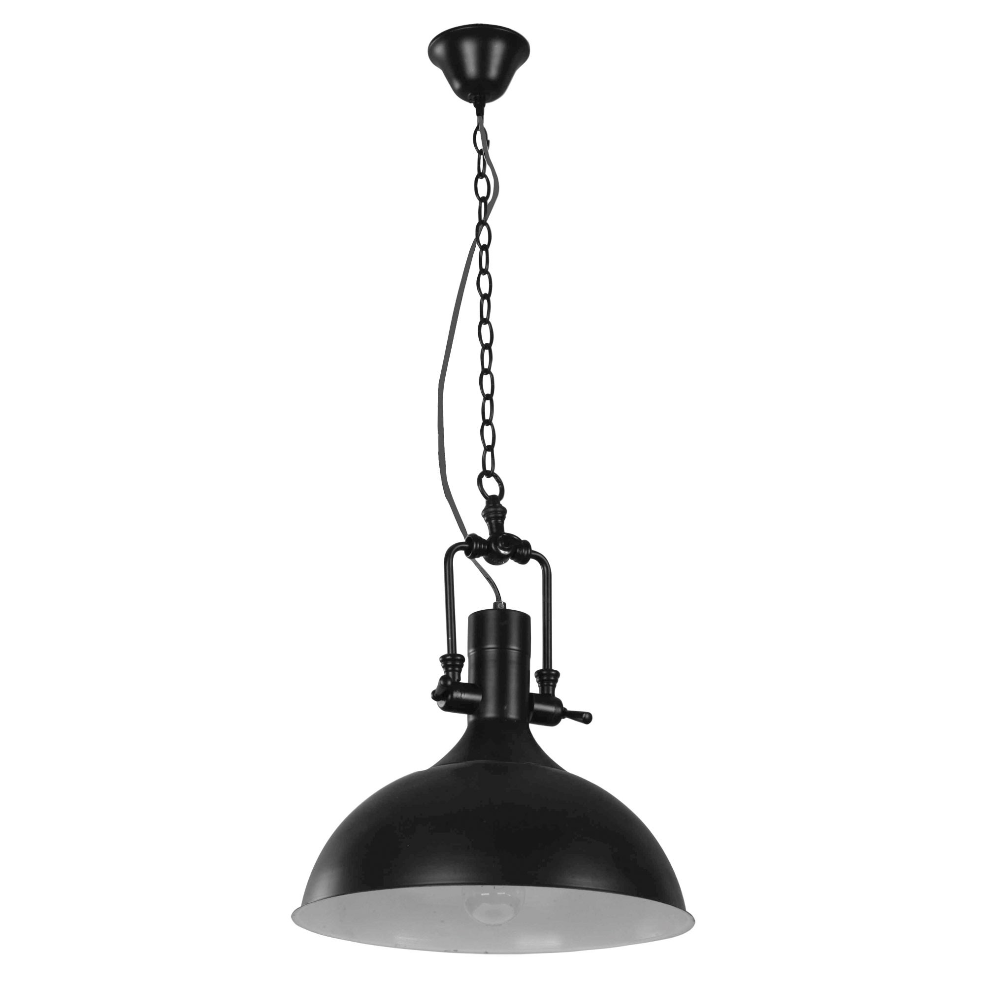 Cottage Metal Pendant Light, Black