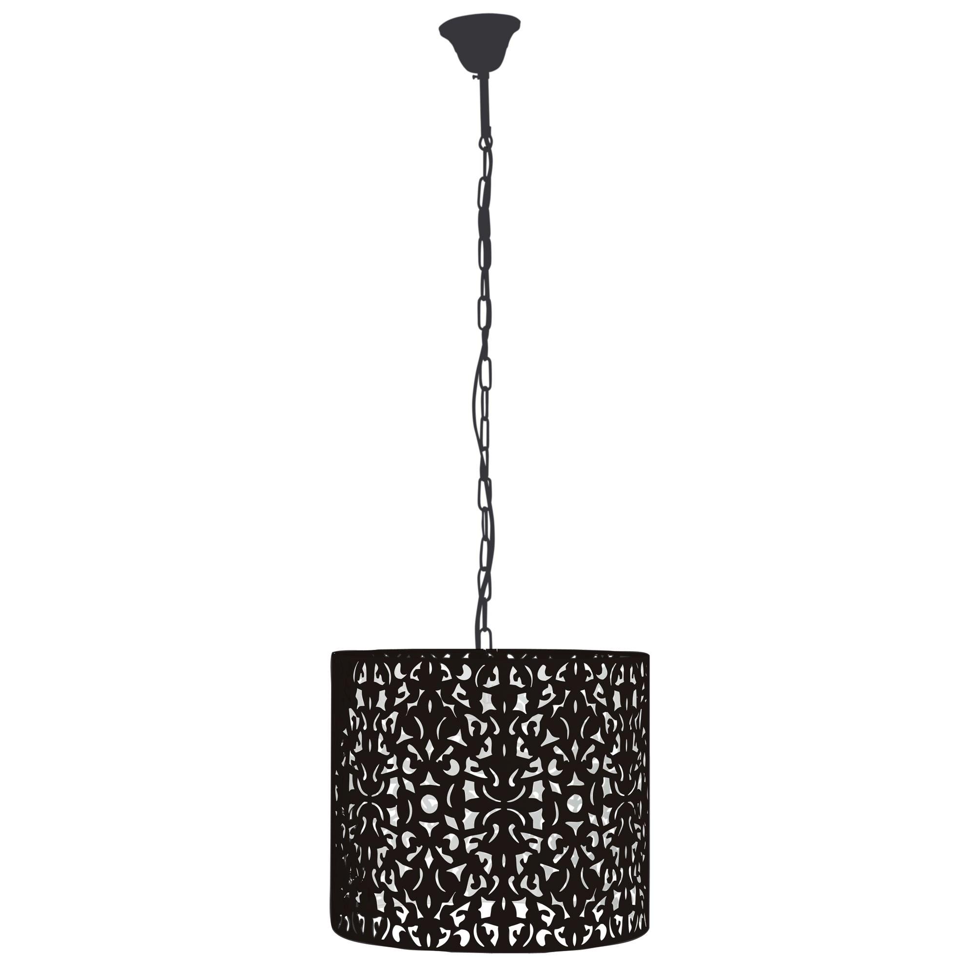 Vicky Metal Pendant Light, 35cm, Black