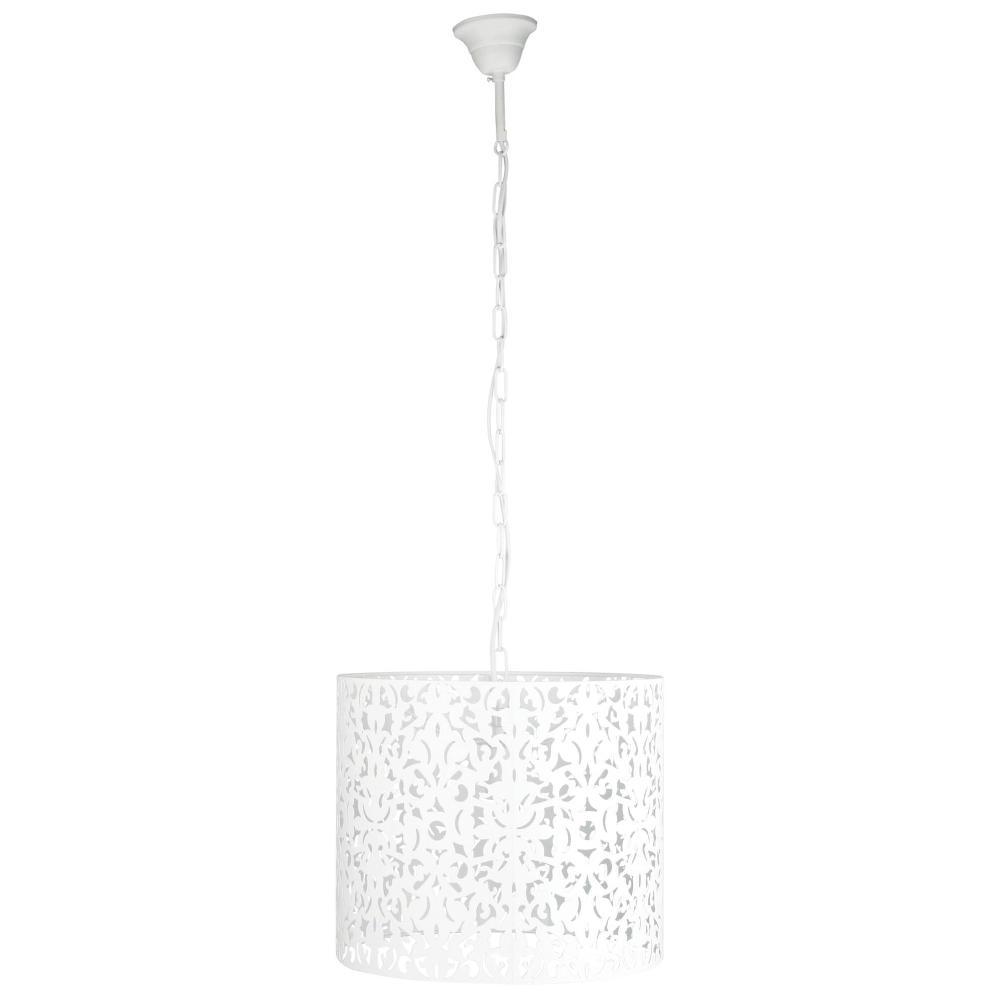 Vicky Metal Pendant Light, 35cm, White