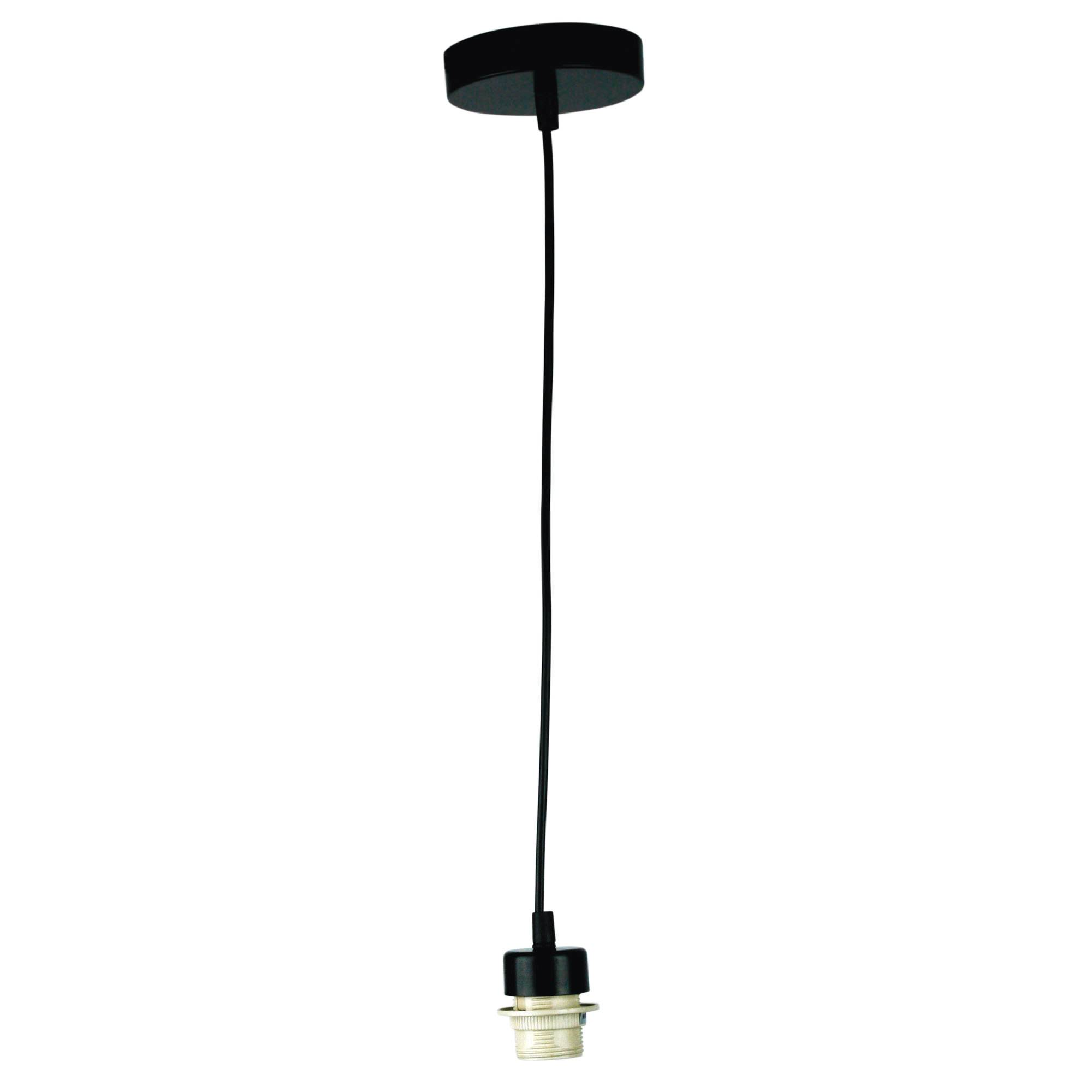 Parti Pendant Light Cord Suspension, Black
