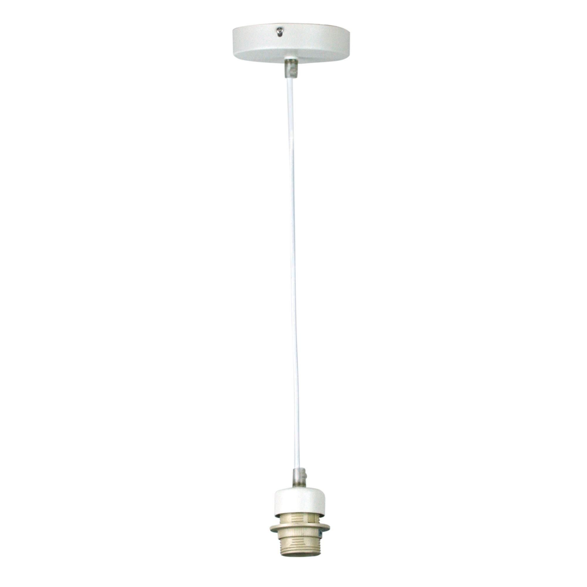 Parti Pendant Light Cord Suspension, White / White