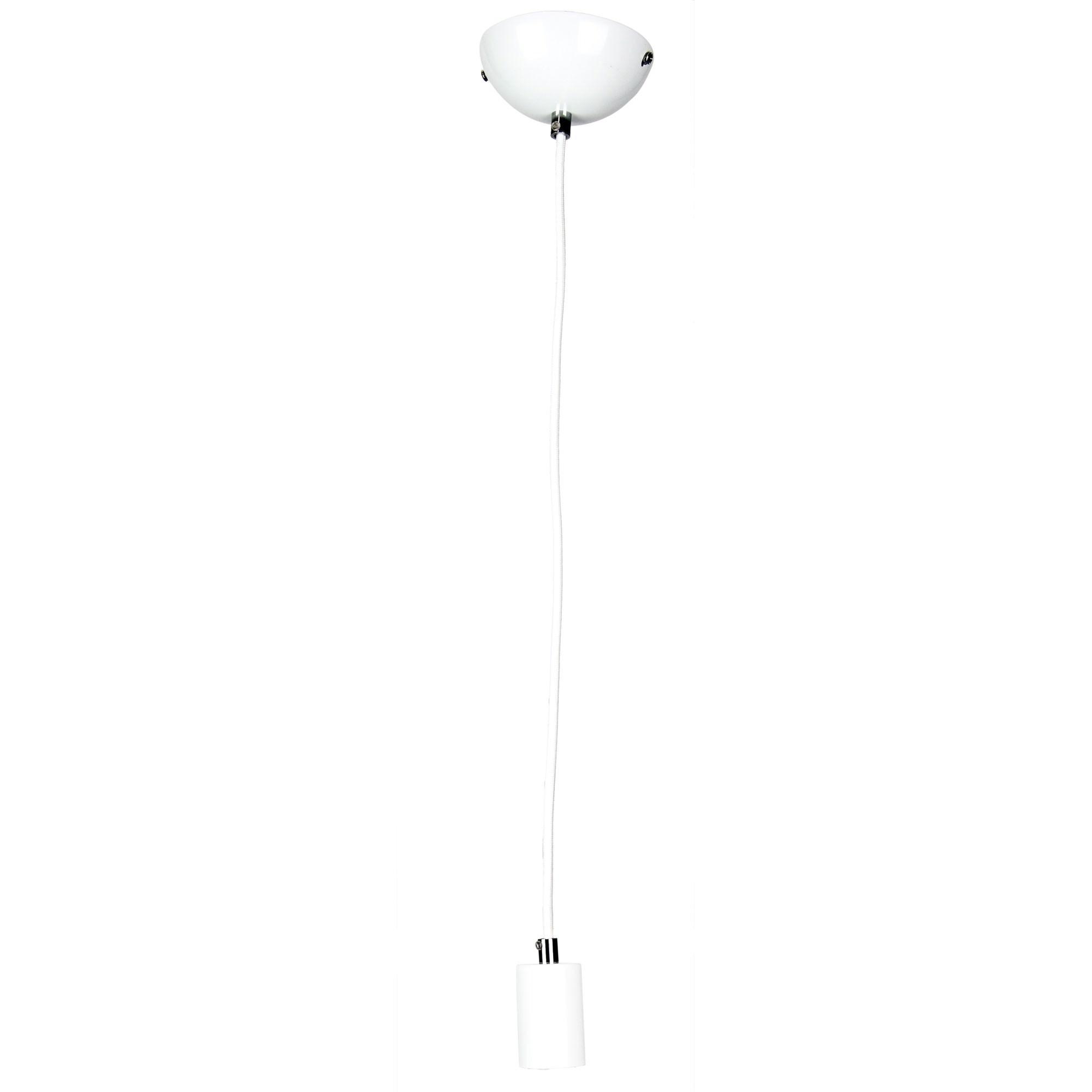 Pop Pendant Light Suspension, 1 Light, White