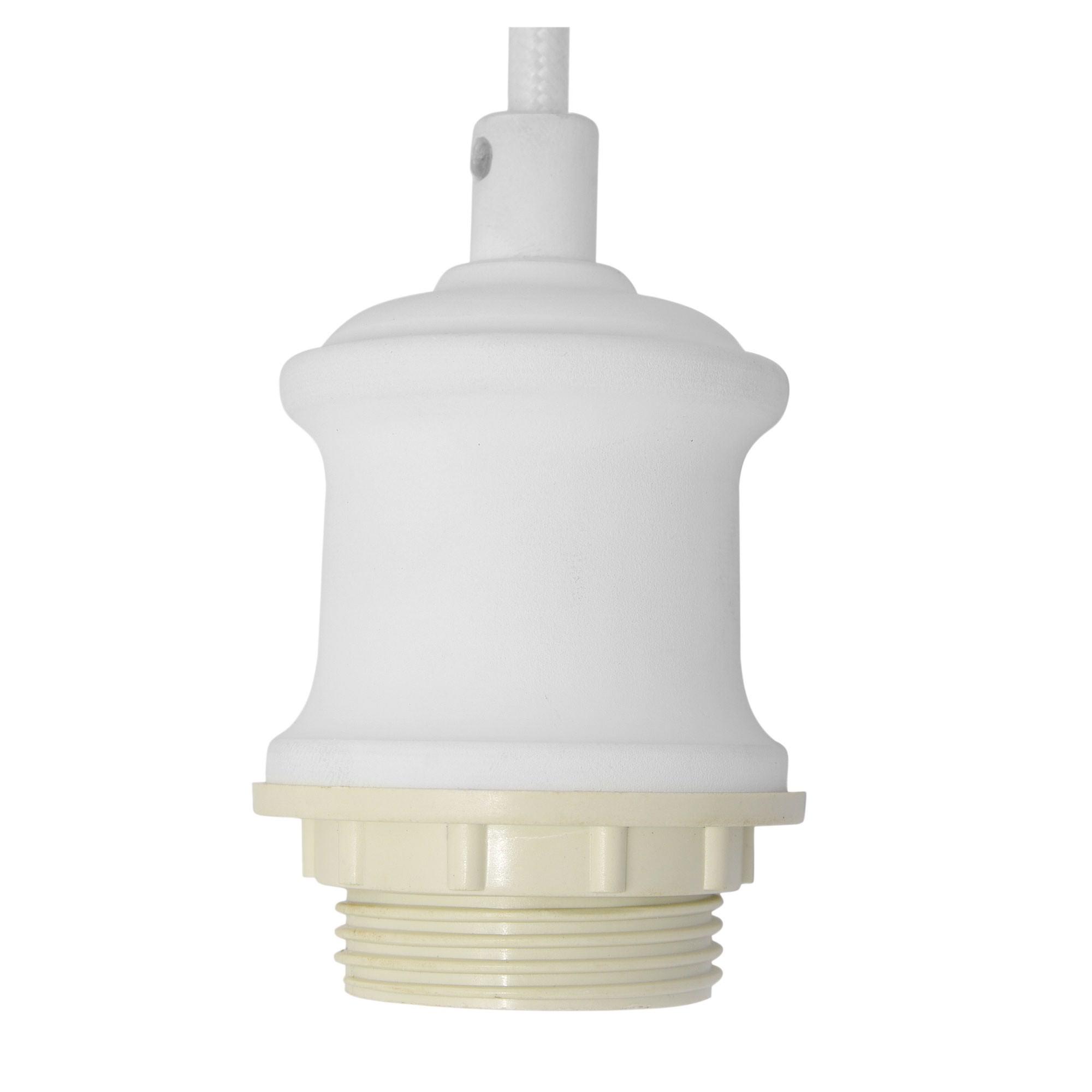 Albany Pendant Light Cord Suspension, White