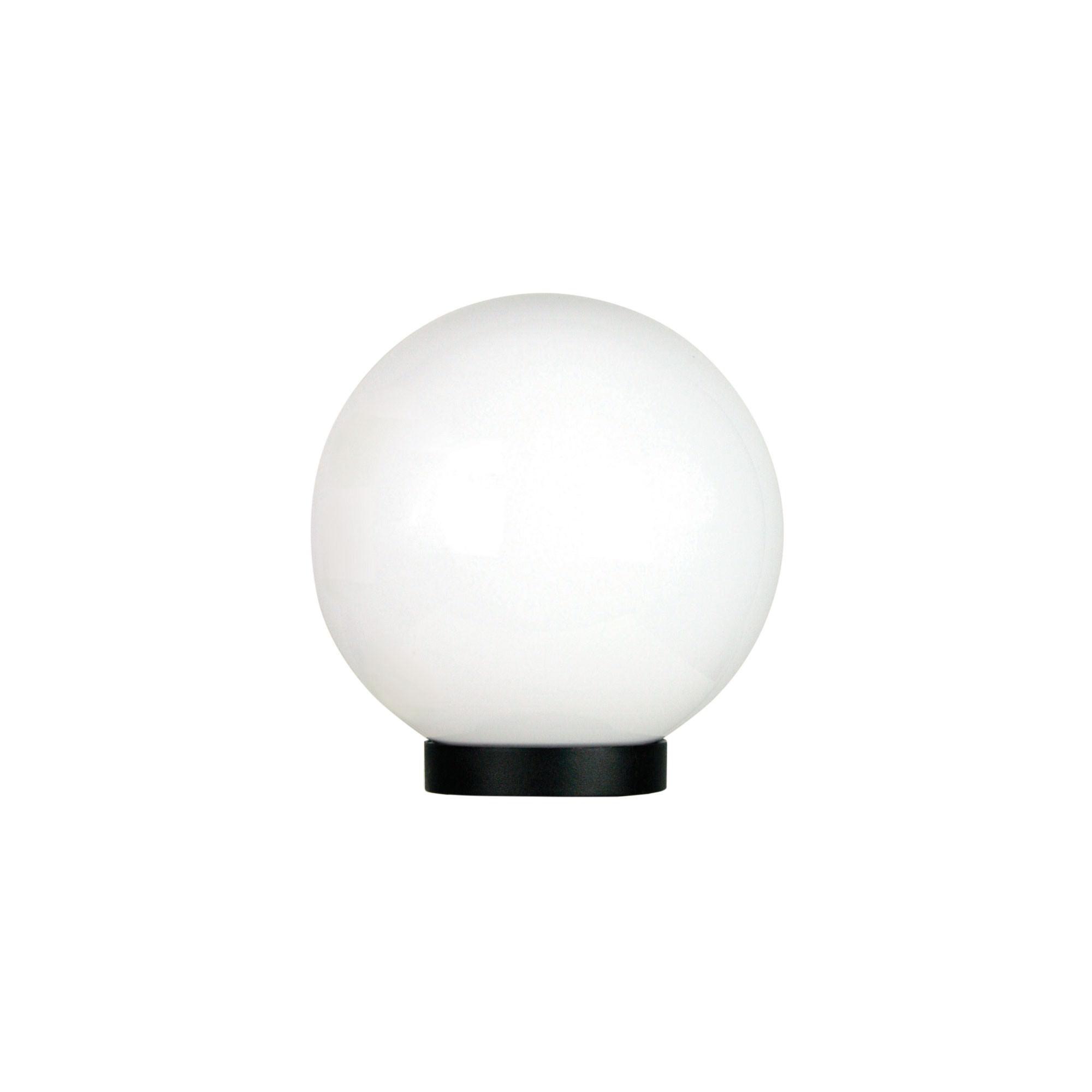 Galactic IP44 Exterior Sphere Post Top Light, 20cm