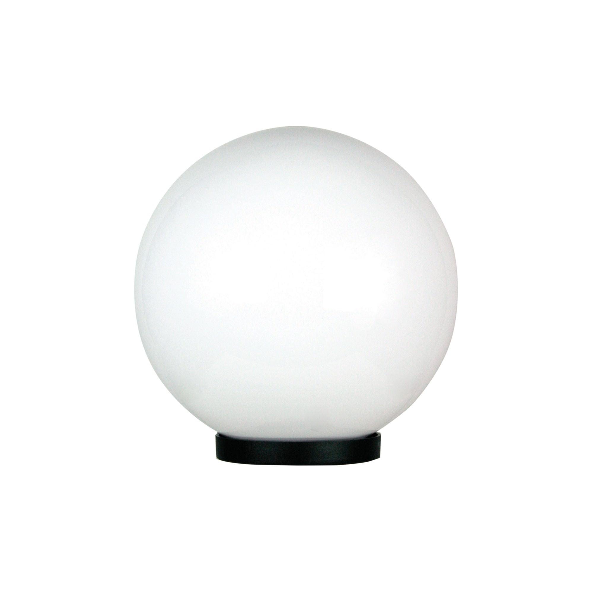 Galactic IP44 Exterior Sphere Post Top Light, 25cm