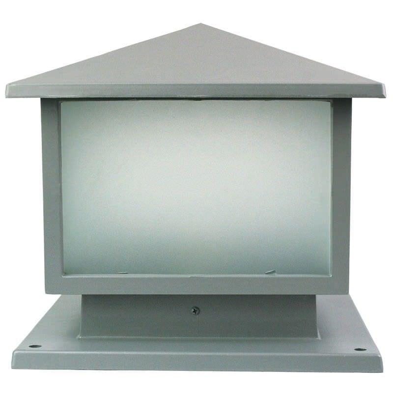 Cortez IP44 Pillar Mount Light - Silver (Oriel Lighting)