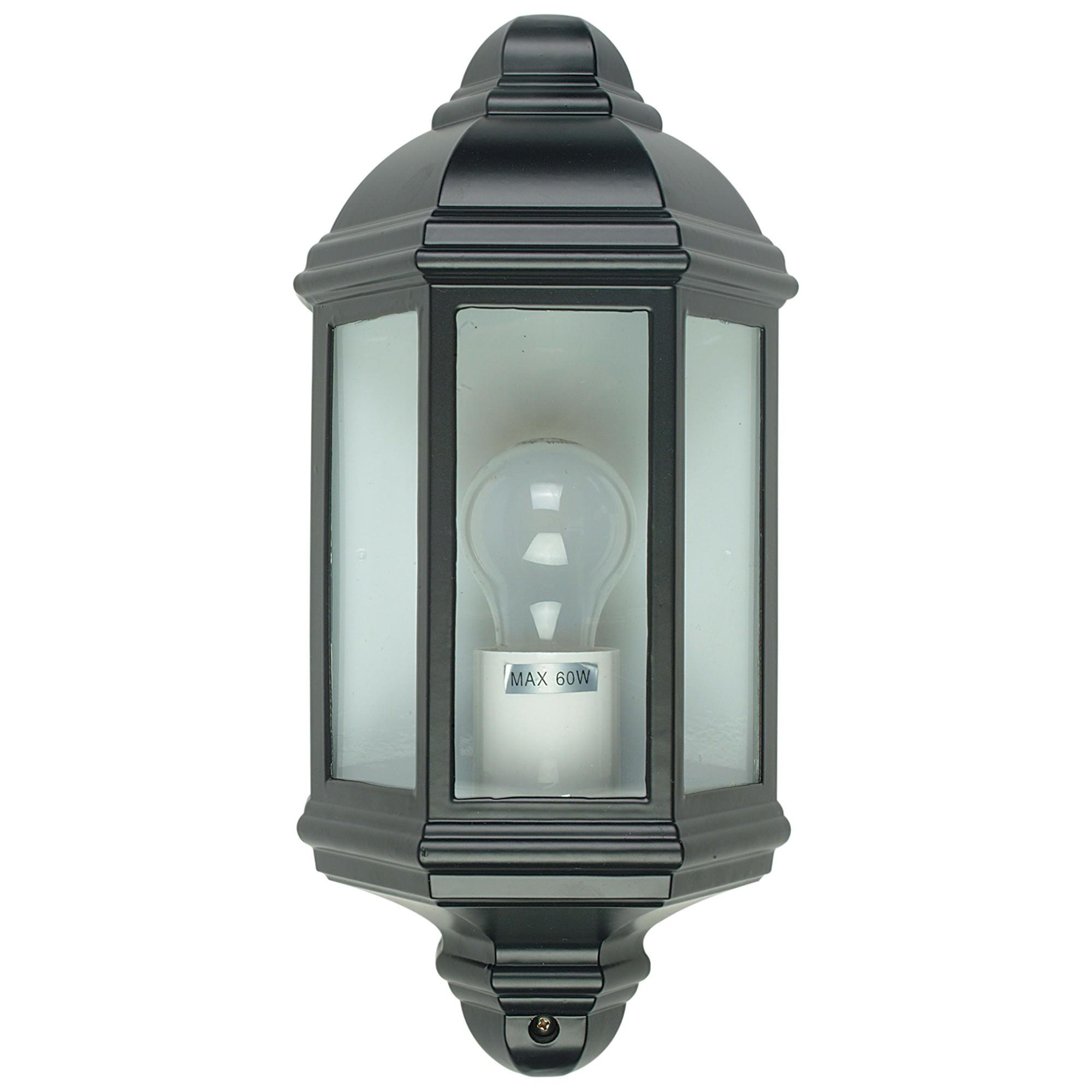 Fenchurch IP44 Exterior Wall Light, Black