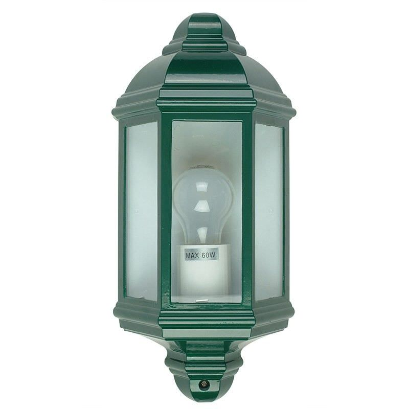 Fenchurch IP44 Traditional Wall Light - Green (Oriel Lighting)