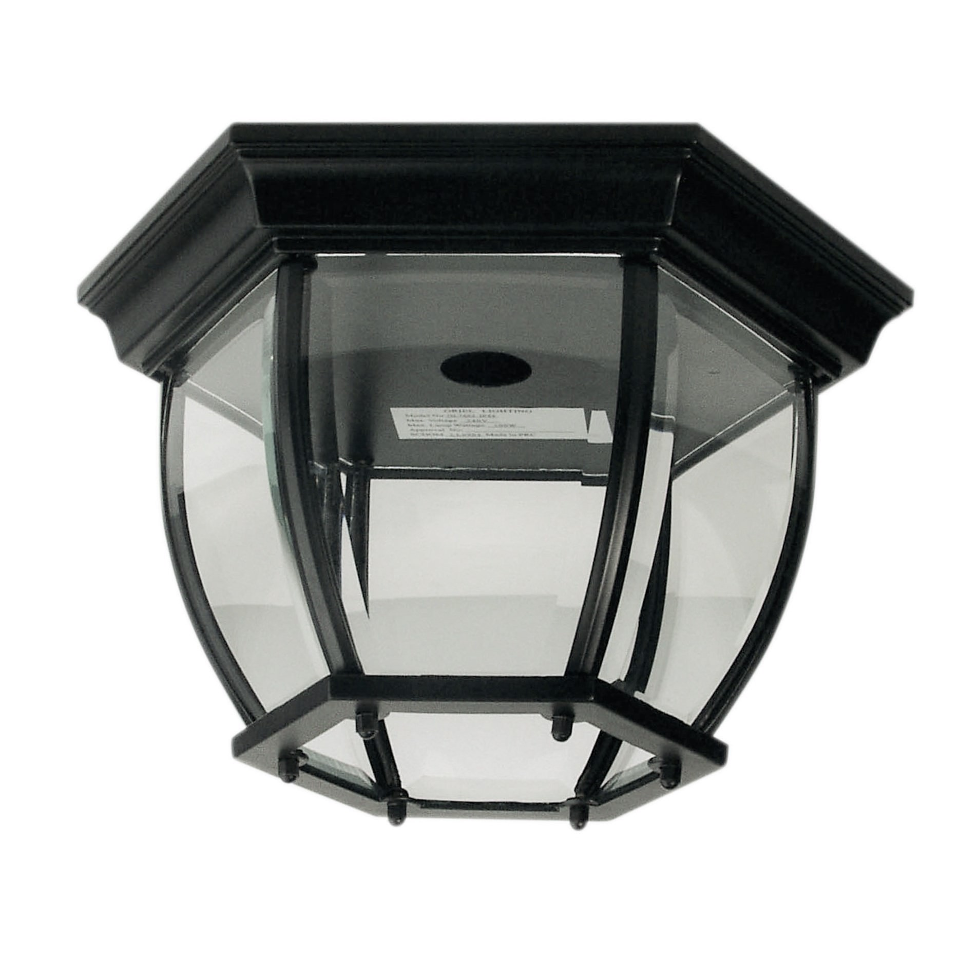Highgate IP44 Exterior DIY Batten Fix Ceiling Light, Black