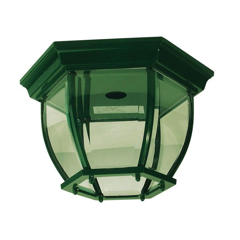 Highgate Traditional Under Eave Exterior Light - Green (Oriel Lighting)