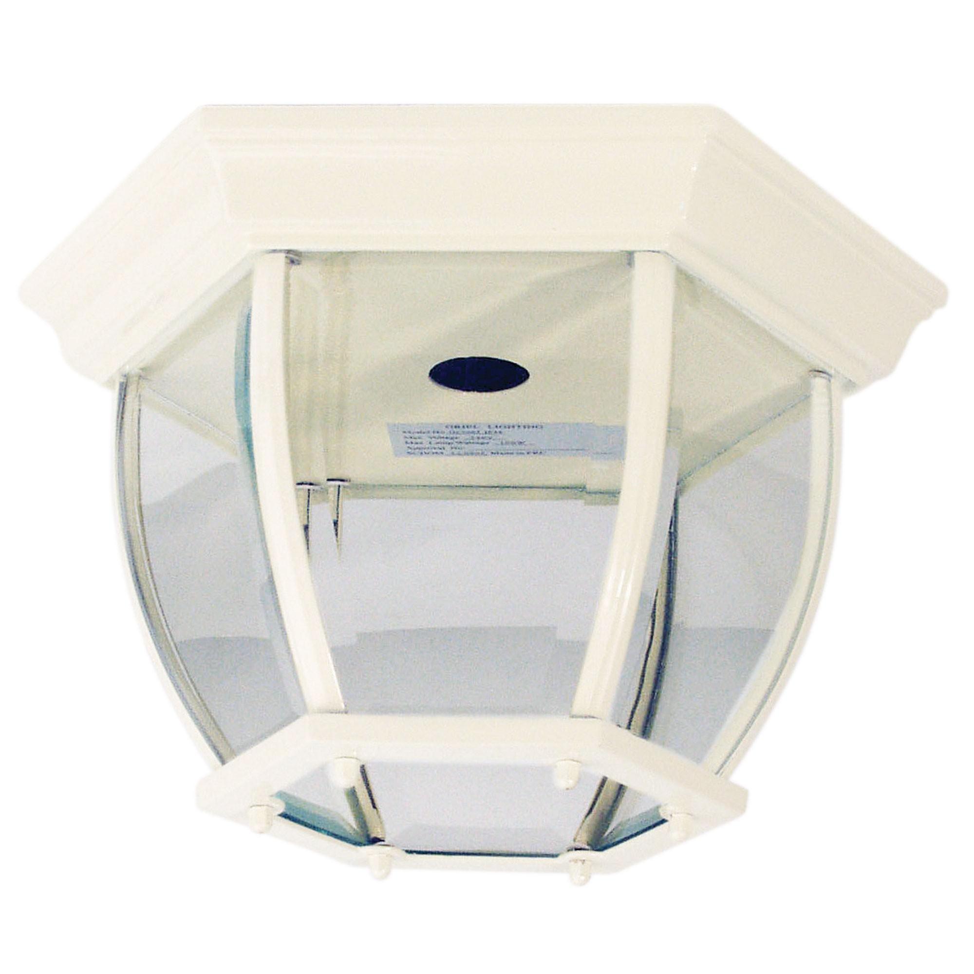Highgate IP44 Exterior DIY Batten Fix Ceiling Light, White