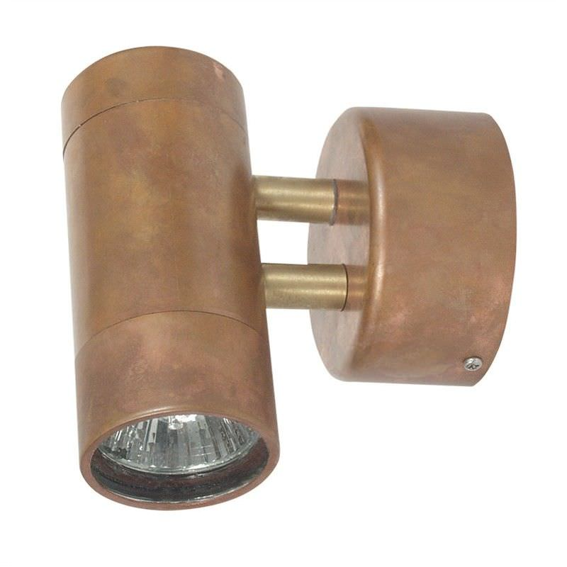 Comma IP54 Outdoor Wall Light, Copper