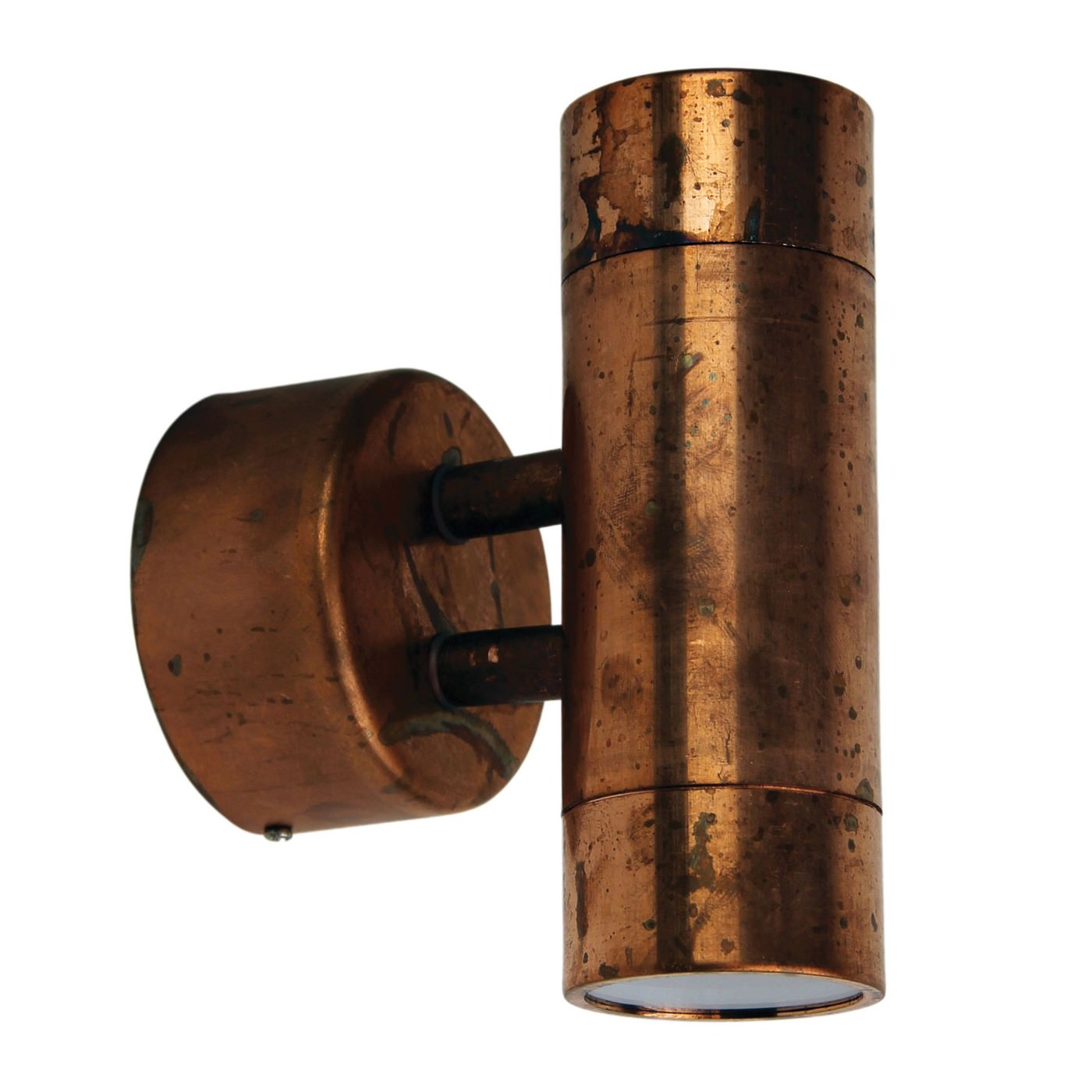 Comma IP44 Exterior Up / Down Wall Light, Copper
