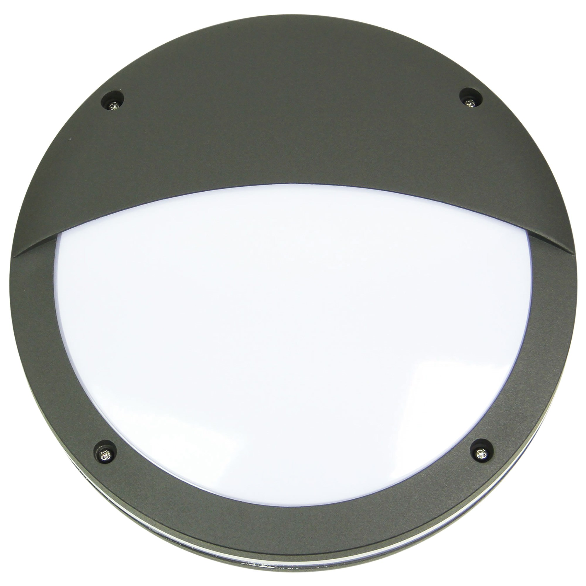 Tonato IP54 Exterior Bunker Light, Eyelid, Graphite