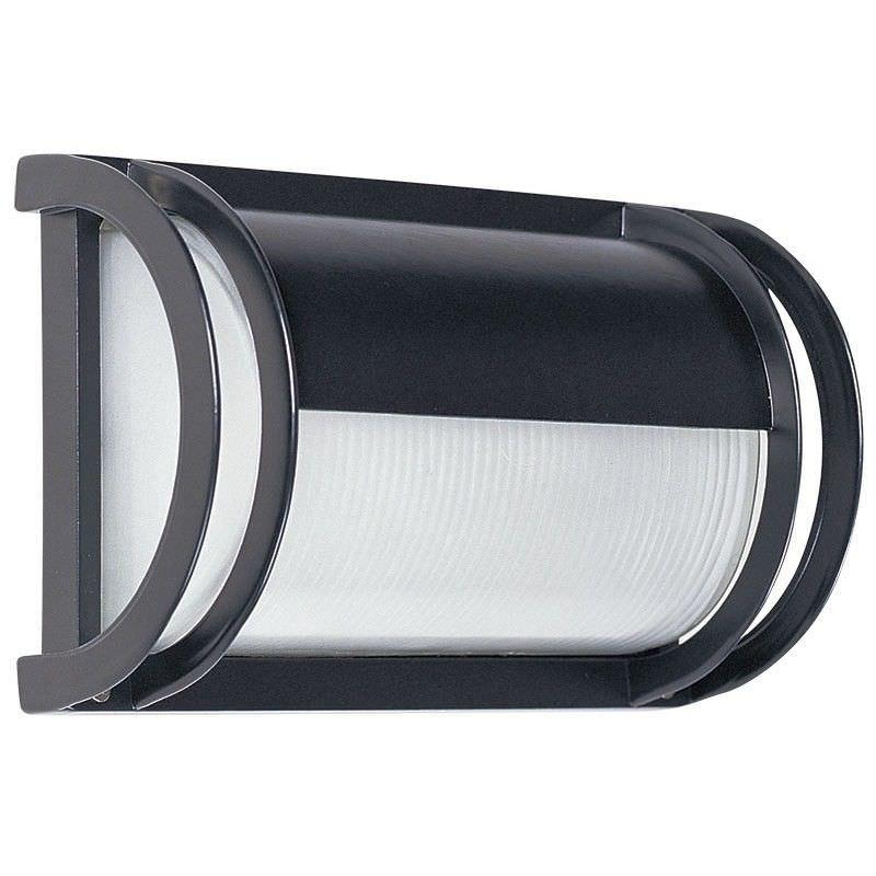 Cylinder IP54 Exterior Solid Eyelid Bulker Light - Black (Oriel Lighting)