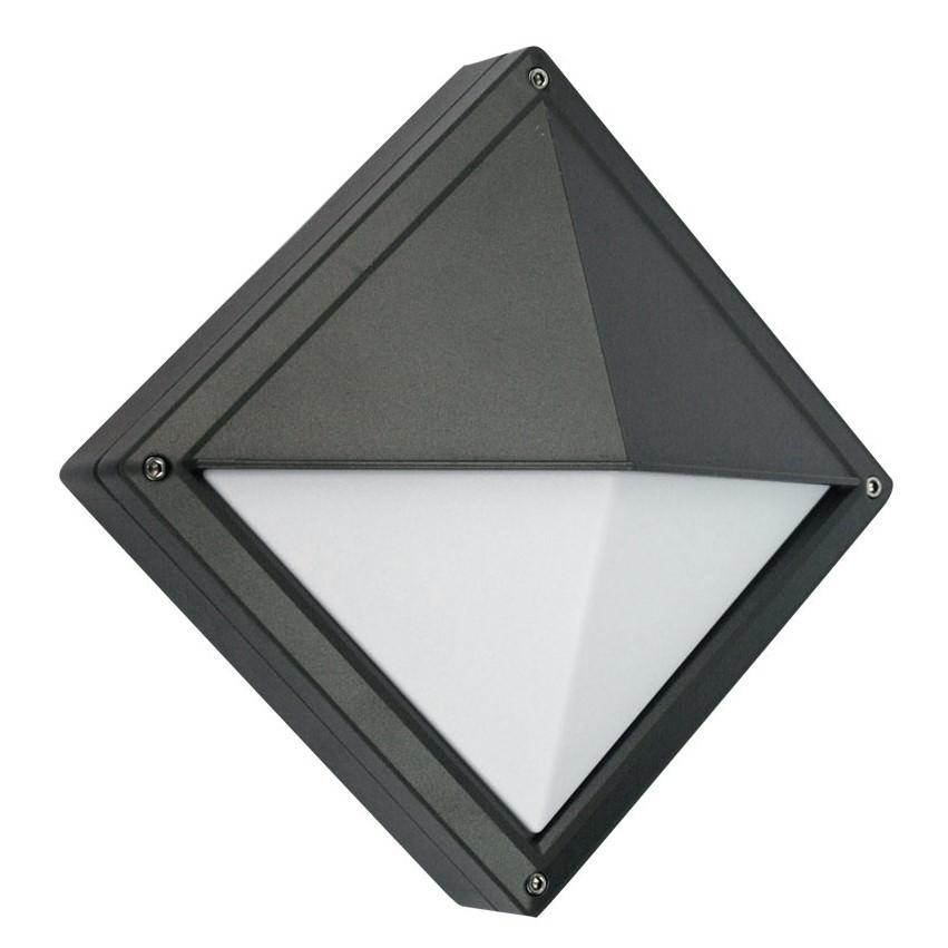 Quatro IP54 Exterior Bunker Light, Eyelid, Graphite