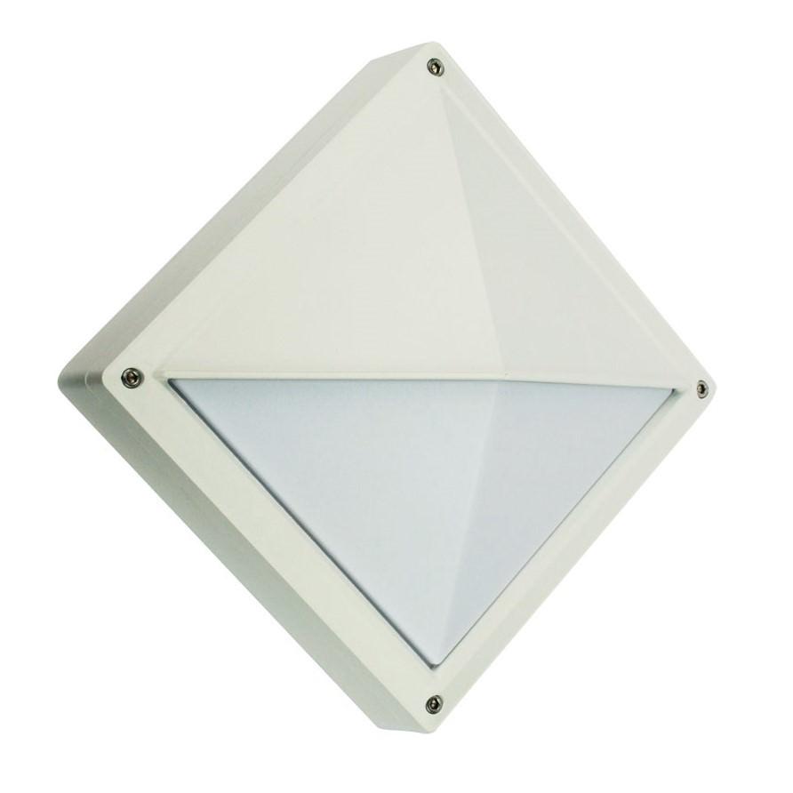Quatro IP54 Exterior Bunker Light, Eyelid, White