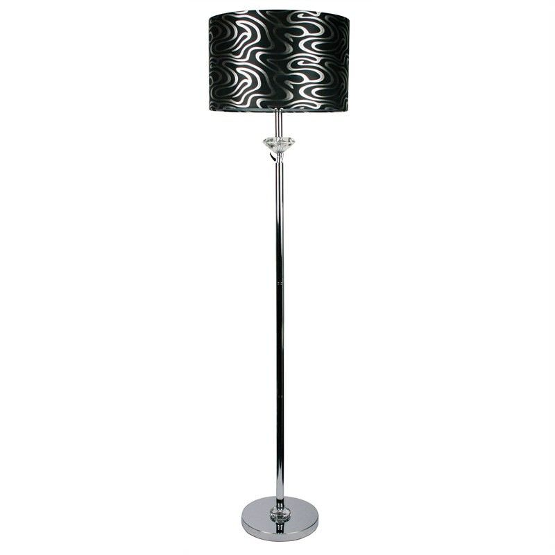 Roxy Crystal-Chrome Lamp Base Only - Chrome (Oriel Lighting)