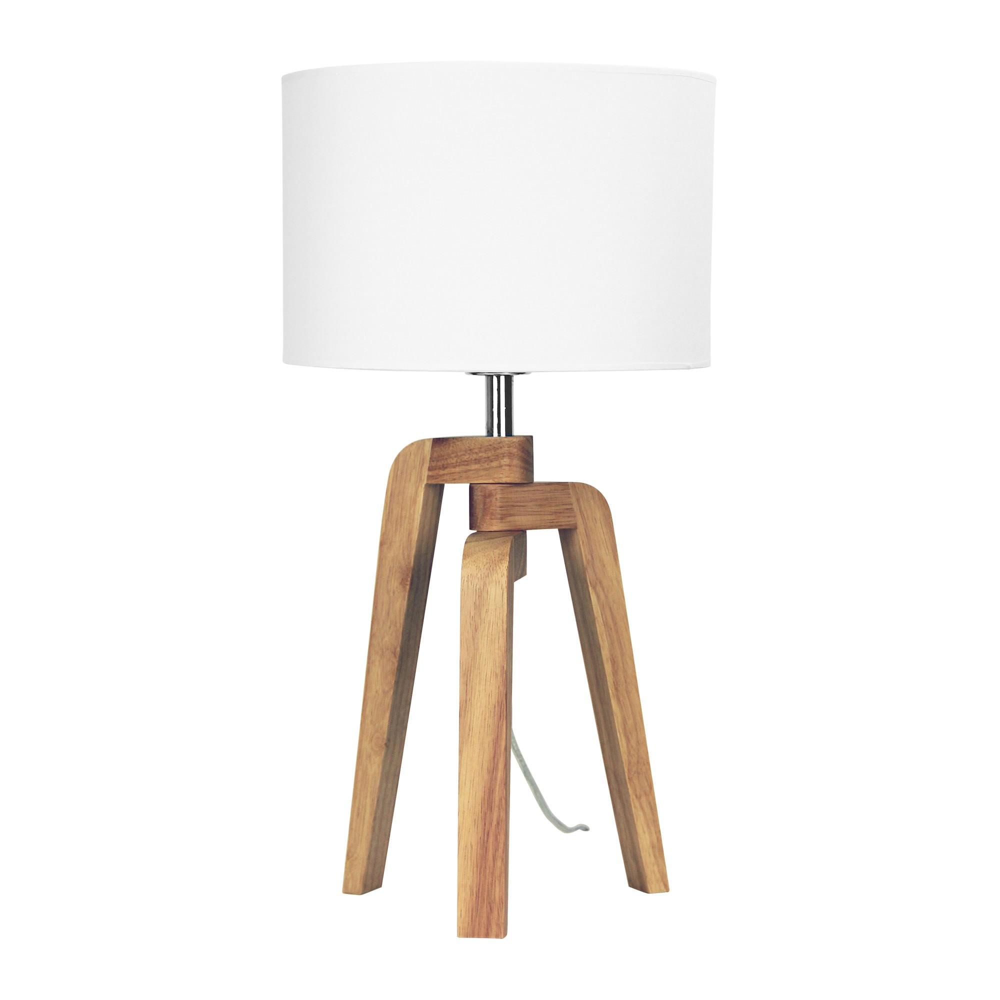 Lund Tripod Timber Base Table Lamp