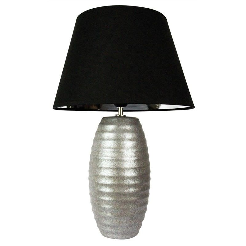 Strato Hand Finished 56cm Table Lamp - Antique Silver (Oriel Lighting)
