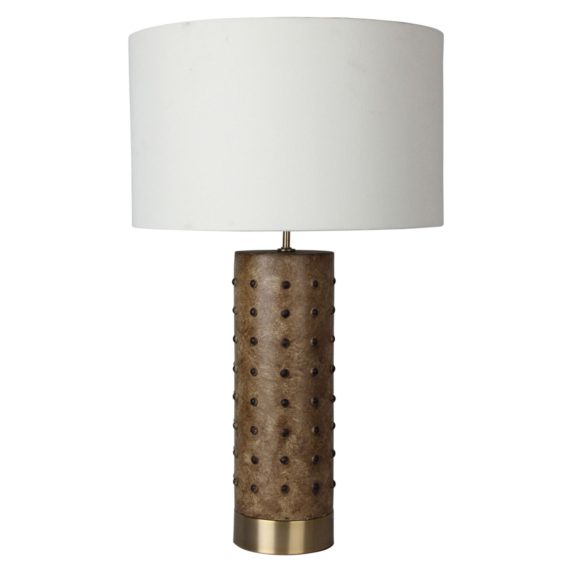 Ivar Leather Look Table Lamp