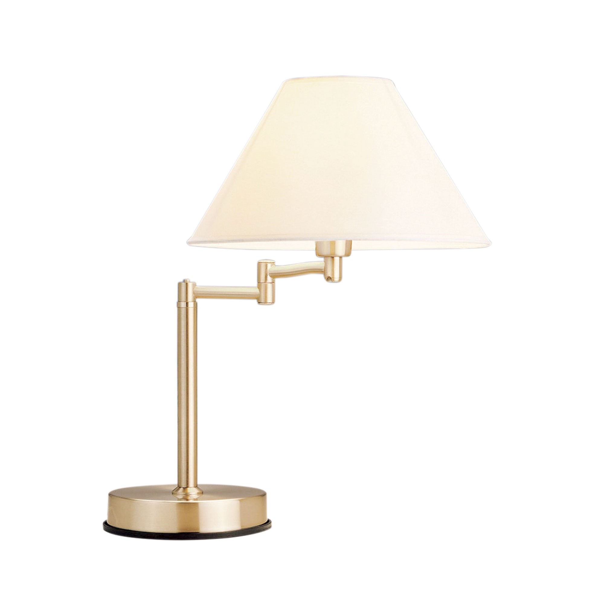 Zoe Swing Arm Touch Table Lamp, Antique Brass