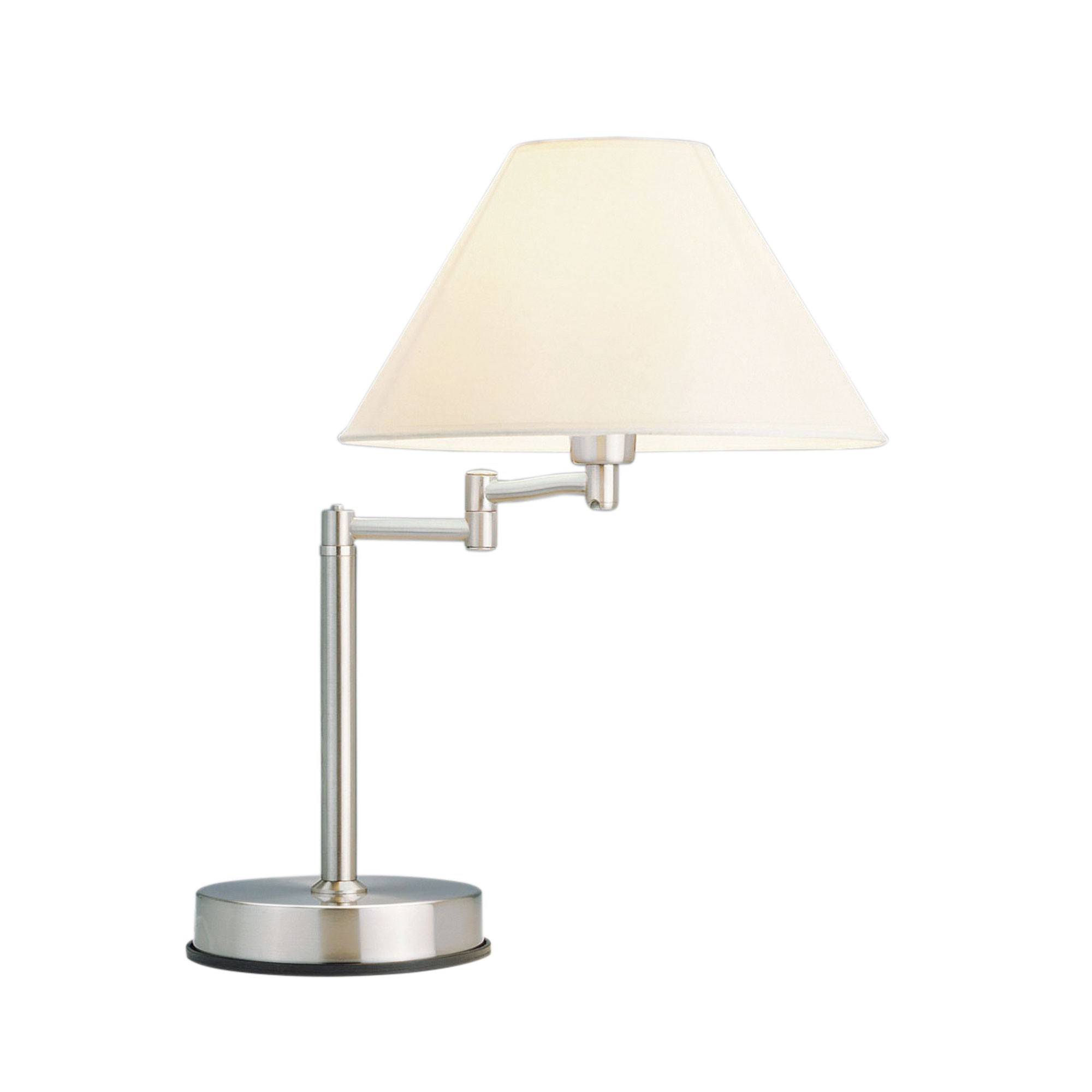 Zoe Swing Arm Touch Table Lamp, Brushed Chrome