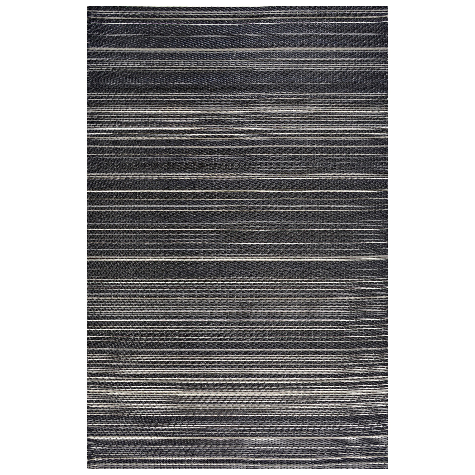 Chatai Rongoli Reversible Outdoor Rug, 150x90cm, Black