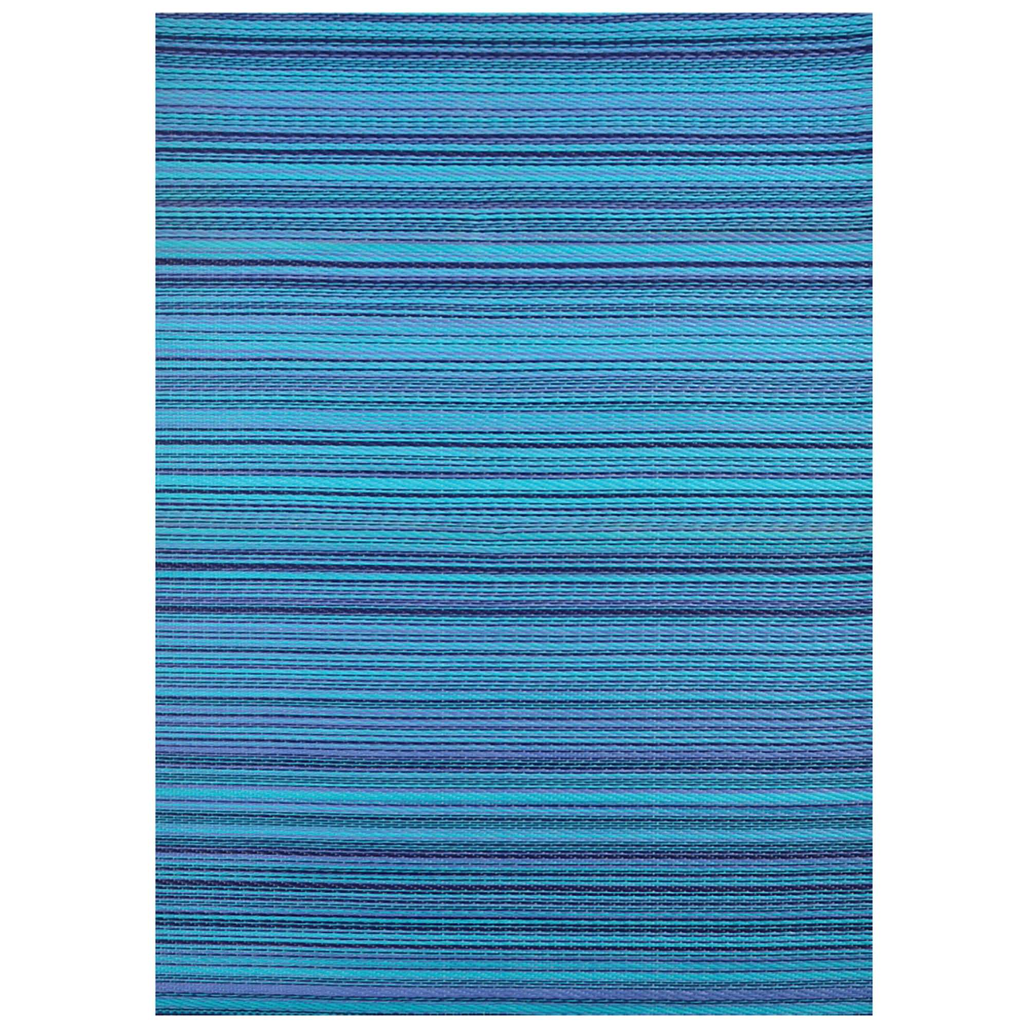Chatai Rongoli Reversible Outdoor Rug, 150x90cm, Blue