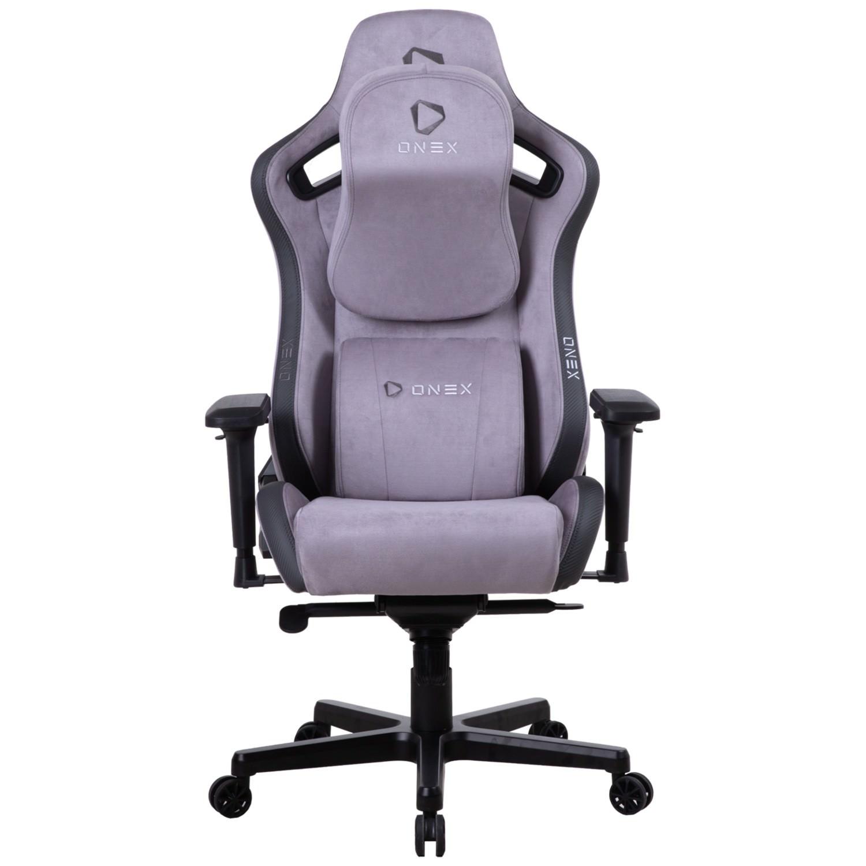 ONEX EV12 Evolution Gaming Chair, Suede Edition, Grey