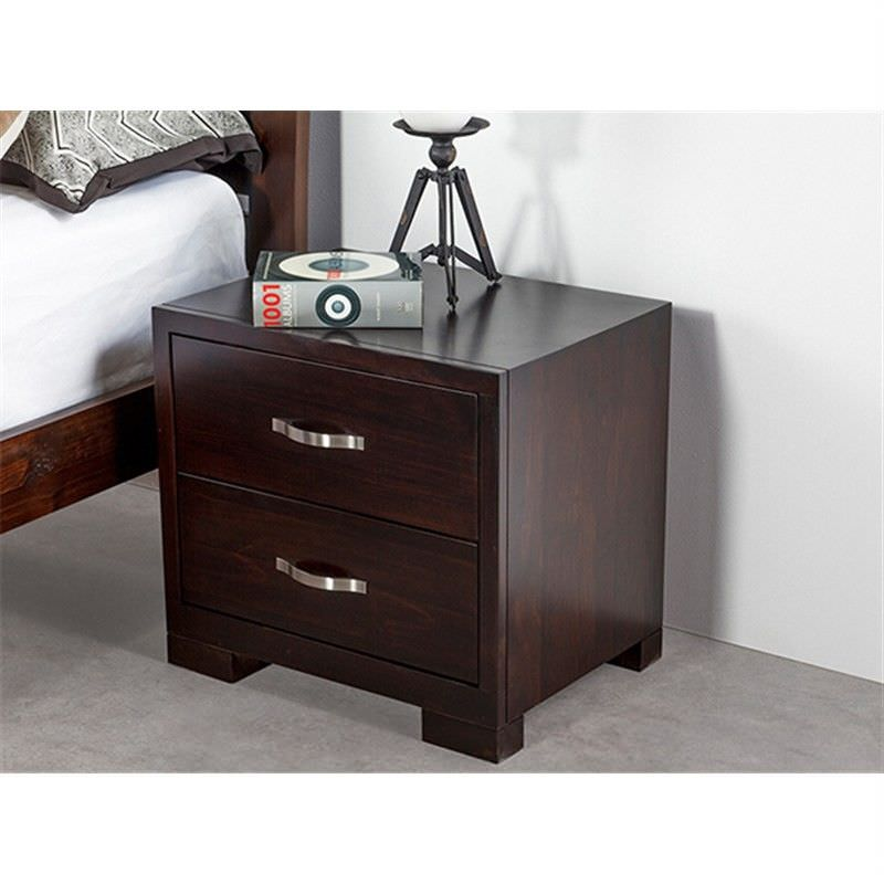 Montana Solid Pine Bedside in Chocolate