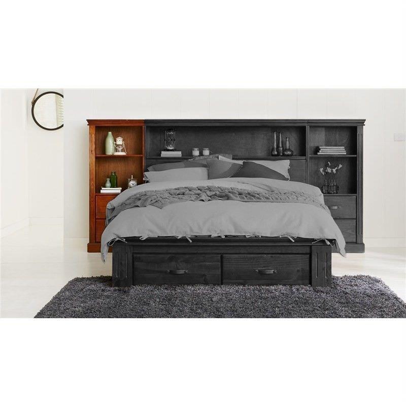 sc 1 st  LivingStyles & Timot Cabin Solid Pine Timber Left Side Bed Head Storage Unit