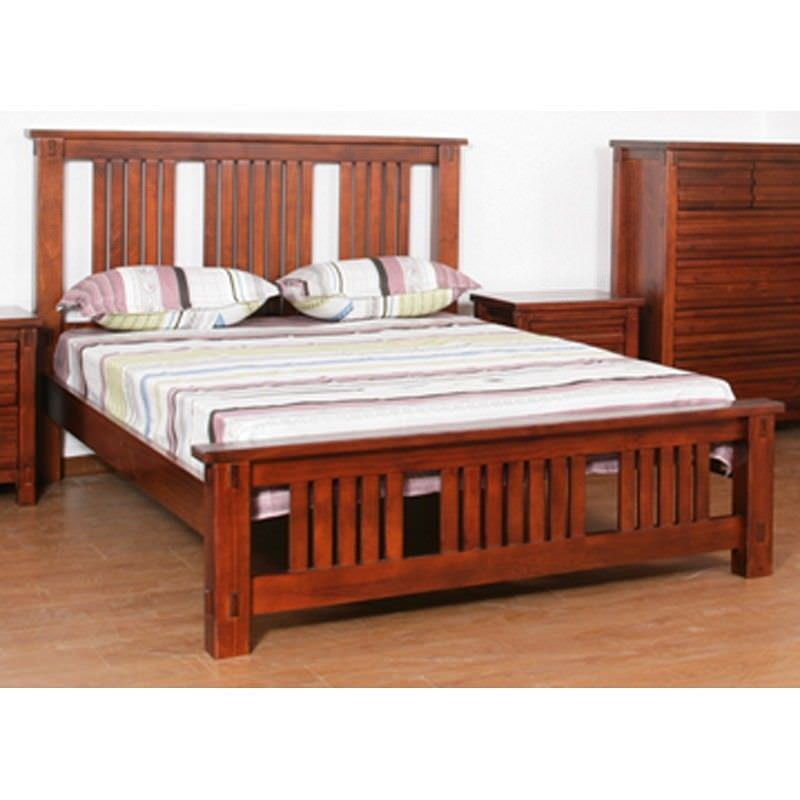 Graciane Solid Pine Timber King Bed