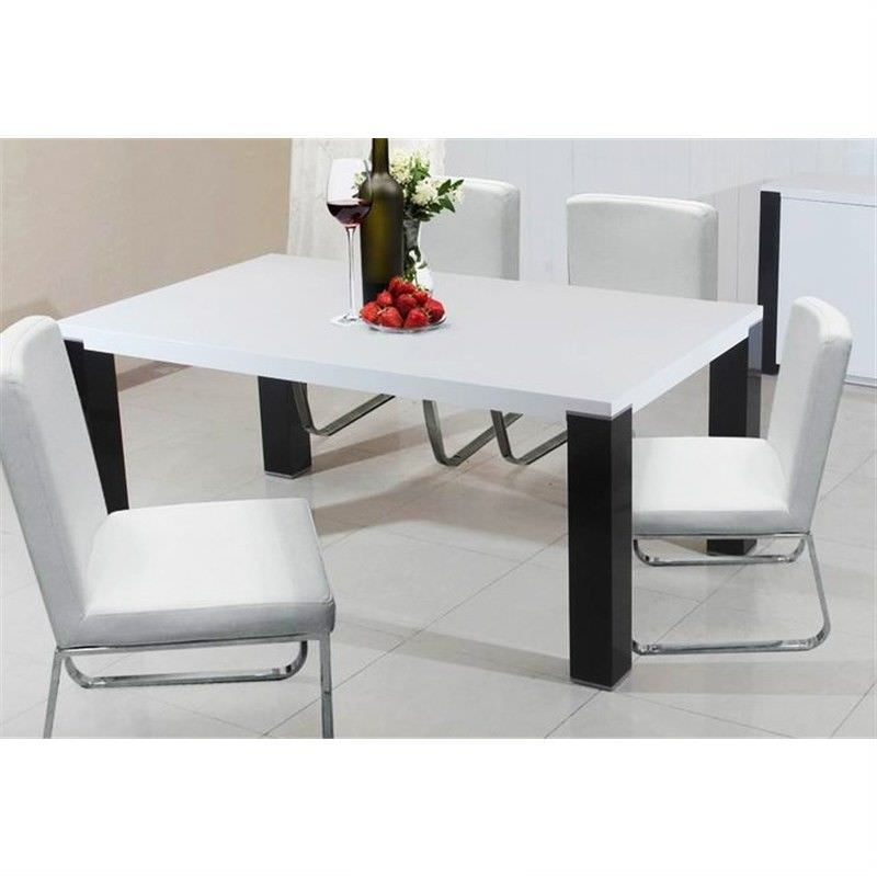 Oreon 210cm Dining Table in White and Black (Table Only)