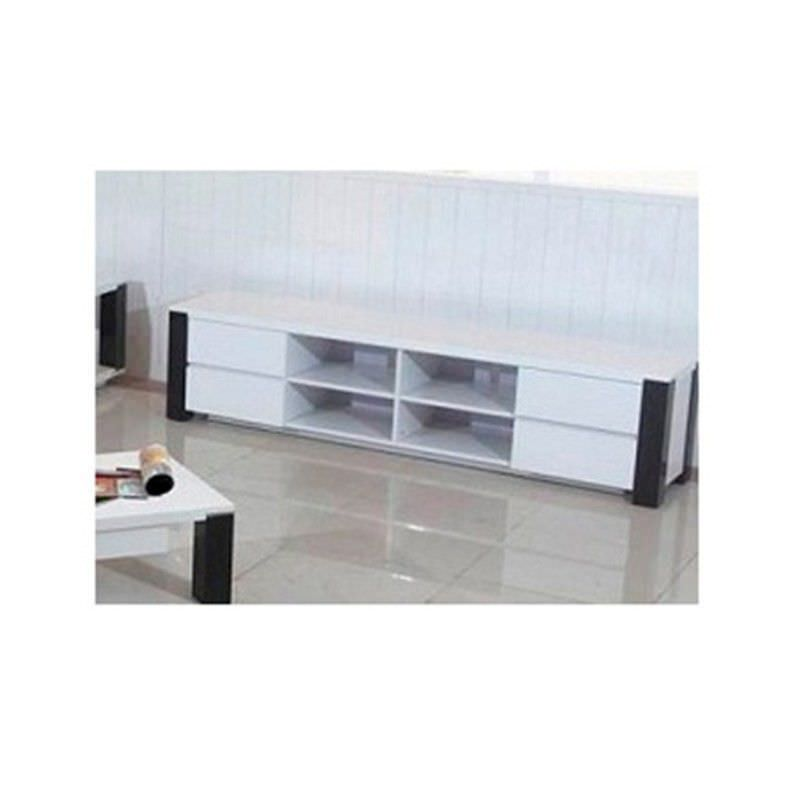 Oreon 210cm Entertainment Unit in White and Black