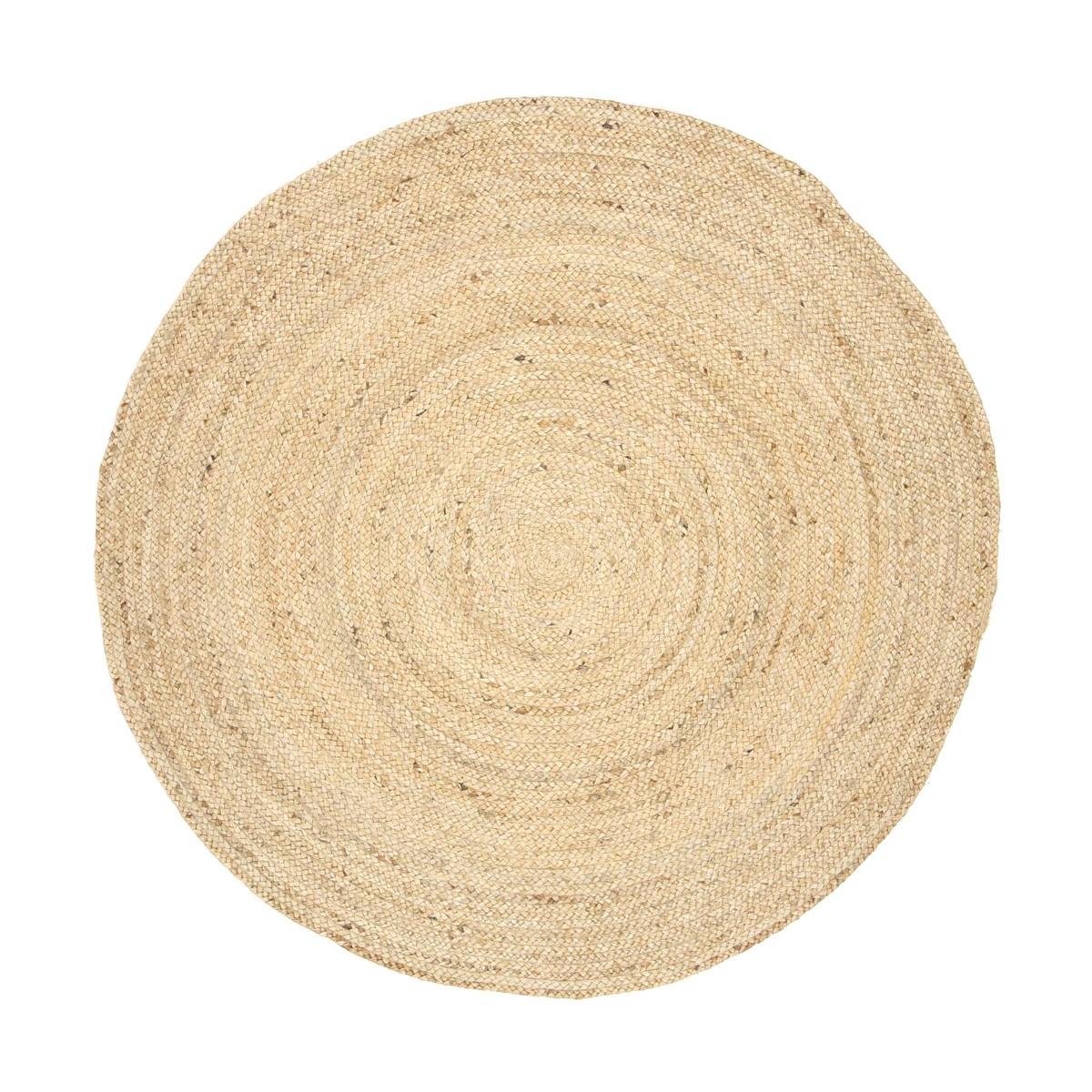 Organica Reversible Jute Round Rug, 200cm, Natrual