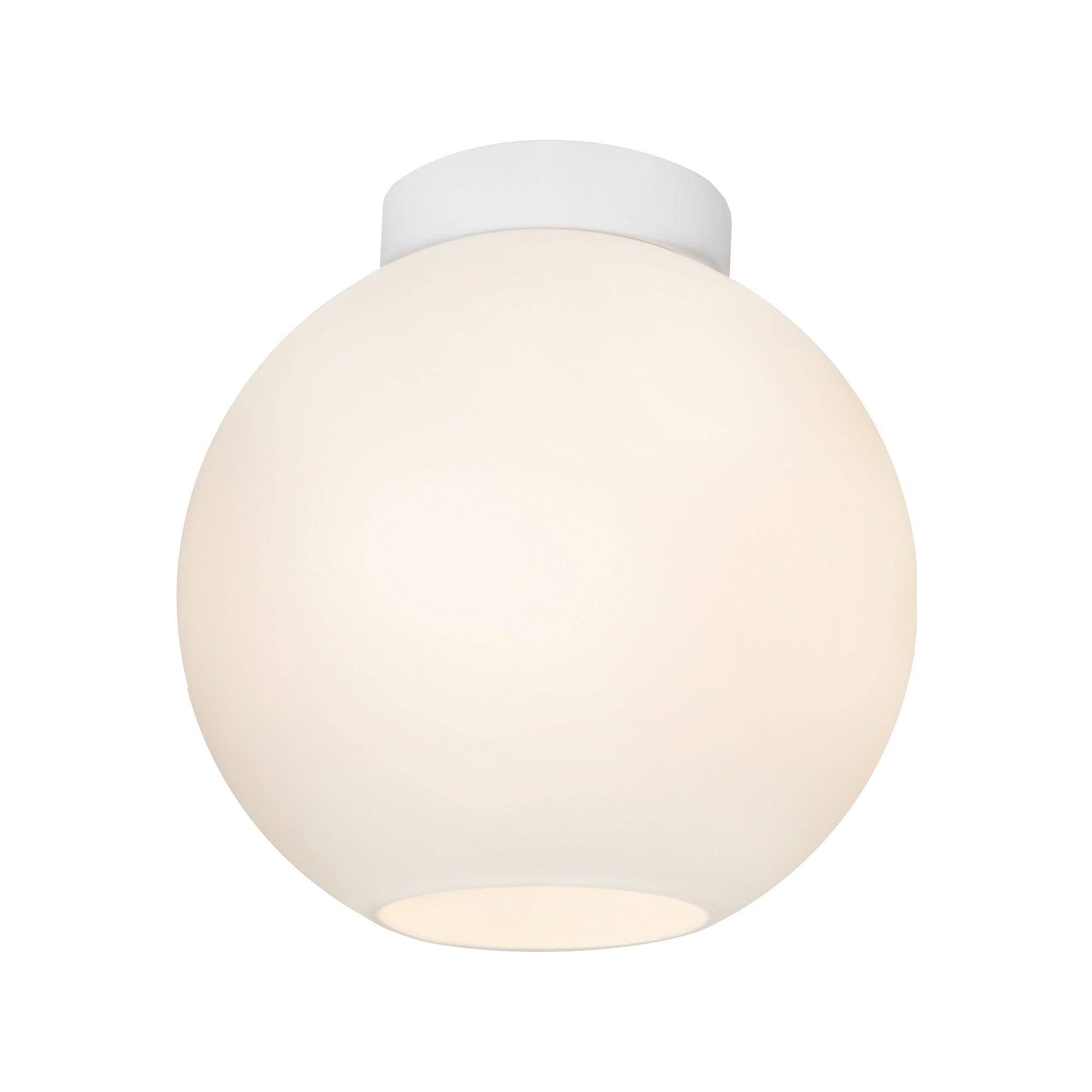 Orpheus Glass Batten Fix Ceiling Light, Opal / White