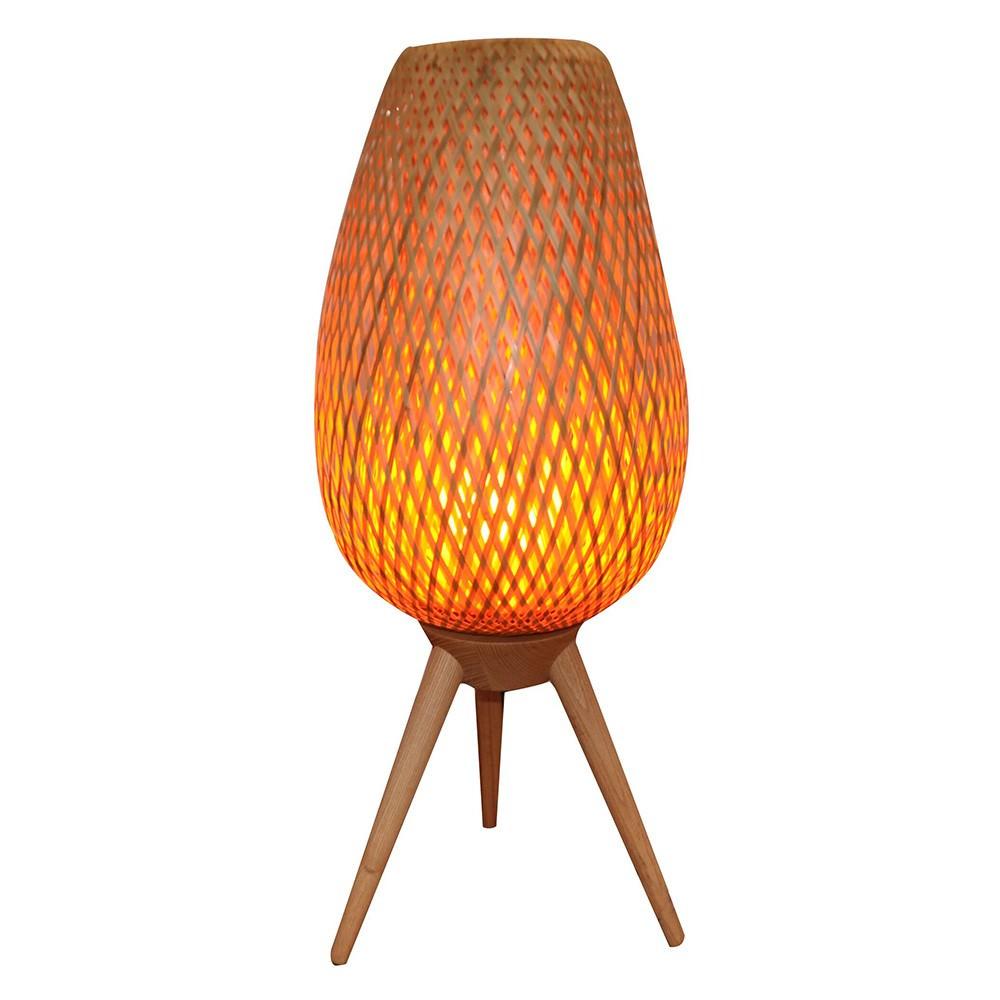Osier Wooden Table Lamp