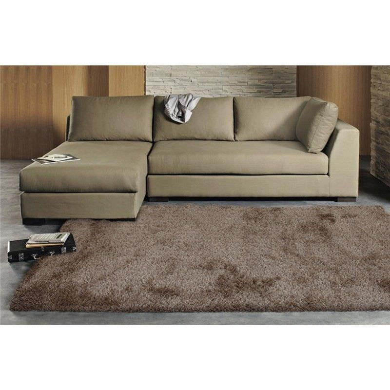 Plush Luxury Shag Rug in Latte - 225x155cm