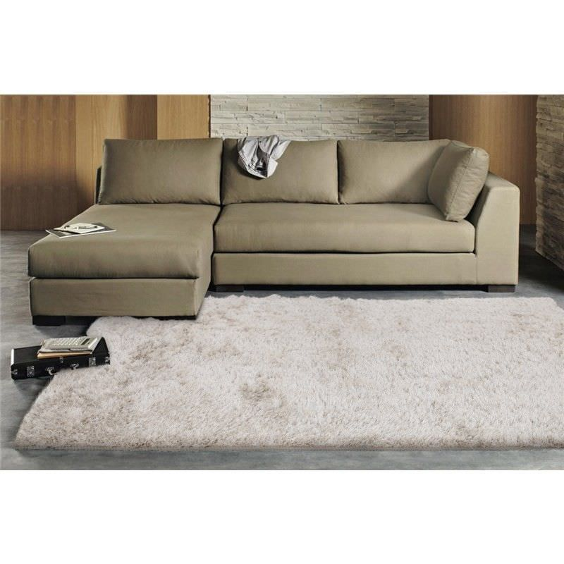 Plush Luxury Shag Rug in Light Beige - 200x80cm