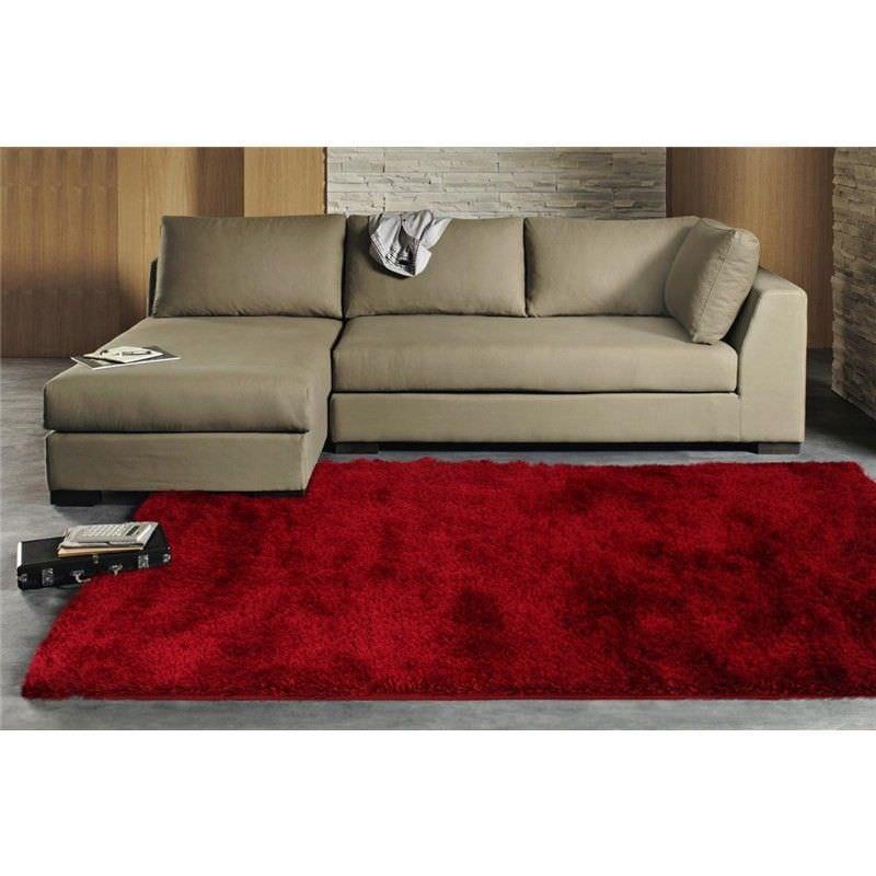 Plush Luxury Shag Rug in Red - 225x155cm