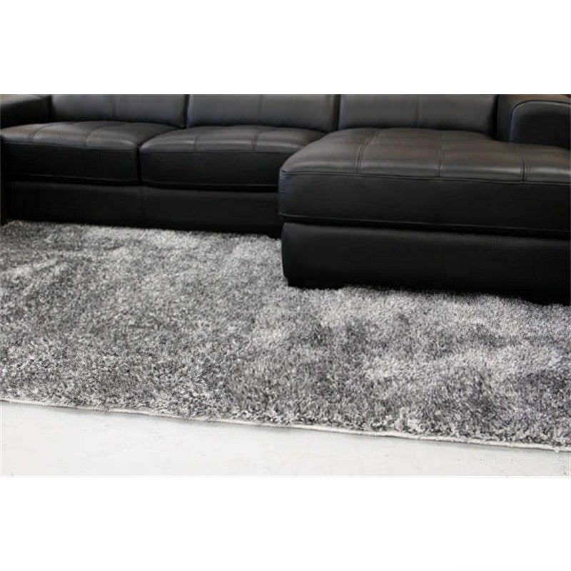 Plush Luxury Shag Rug in Grey - 225x155cm