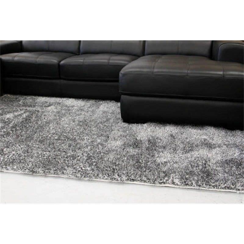 Plush Luxury Shag Rug in Grey - 280x190cm