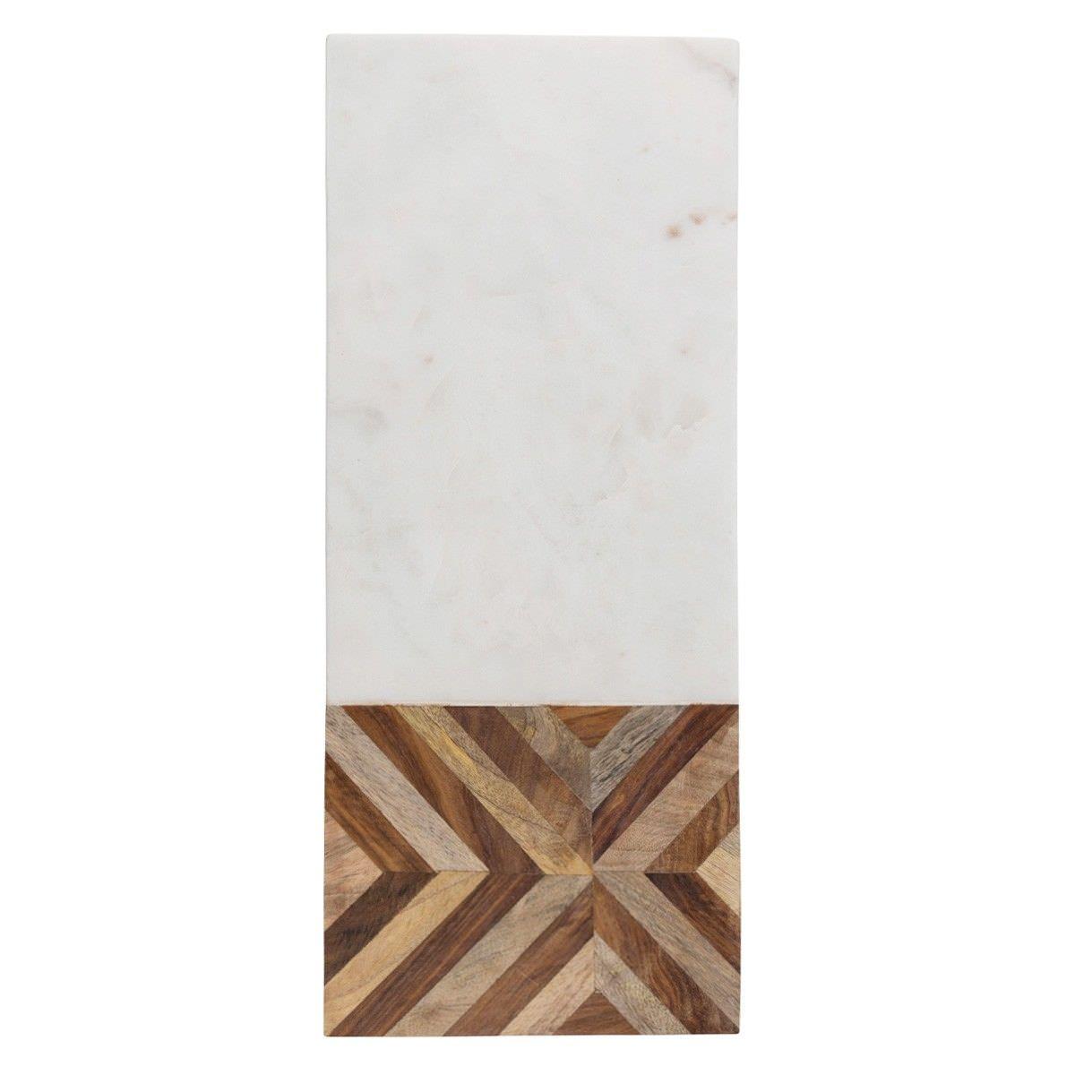 Alma Marble & Timber Rectangular Serving Board