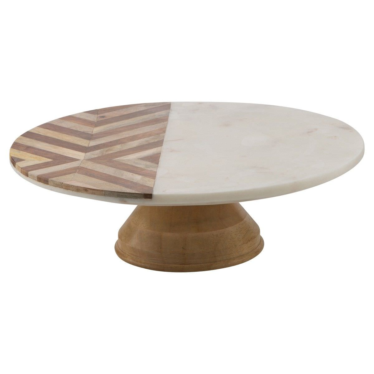 Alma Marble & Timber Cake Stand