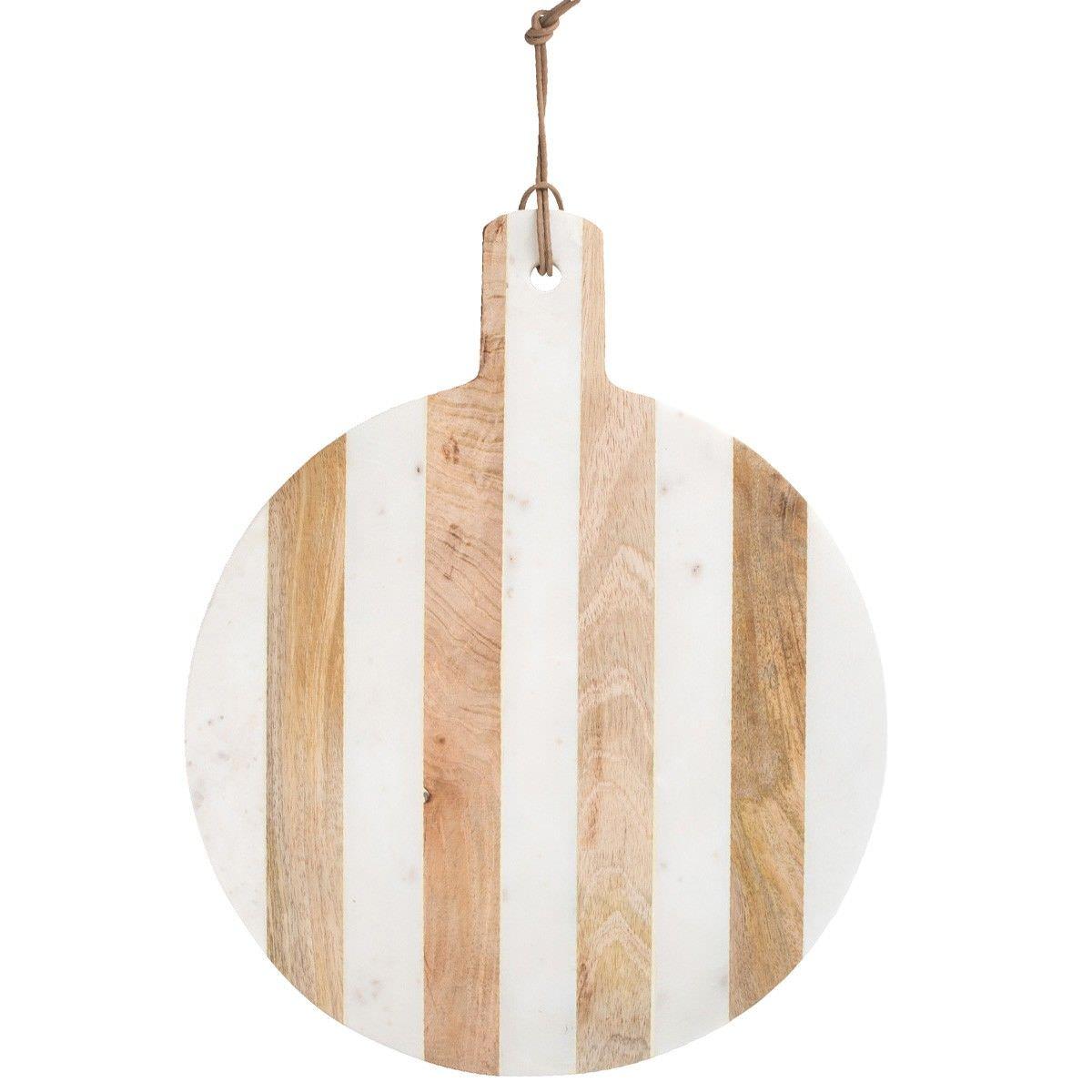 Moxon Marble & Timber Round Serving Board, Large