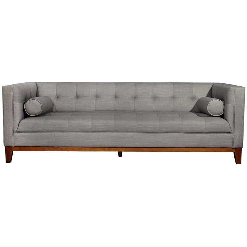 Calvin Fabric Sofa, 3 Seater, Light Grey