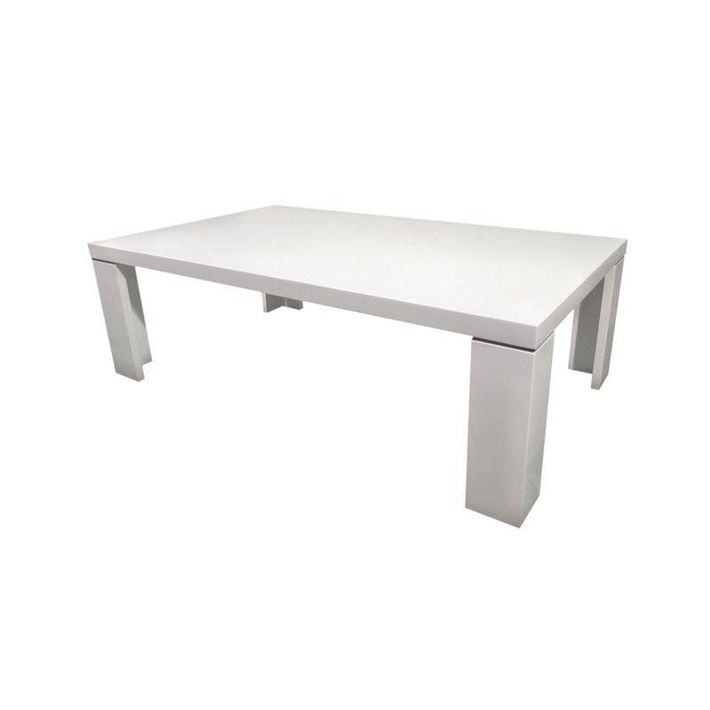 Yumi Coffee Table in High Gloss white