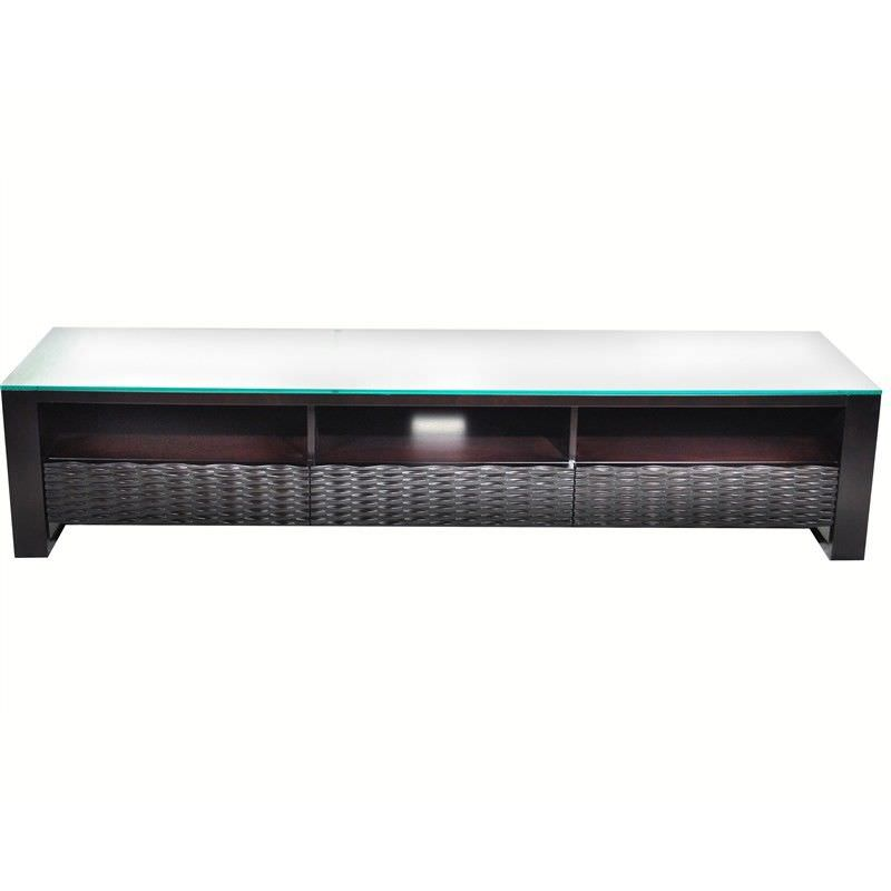 Chloe Entertainment Unit with glass top 200cm