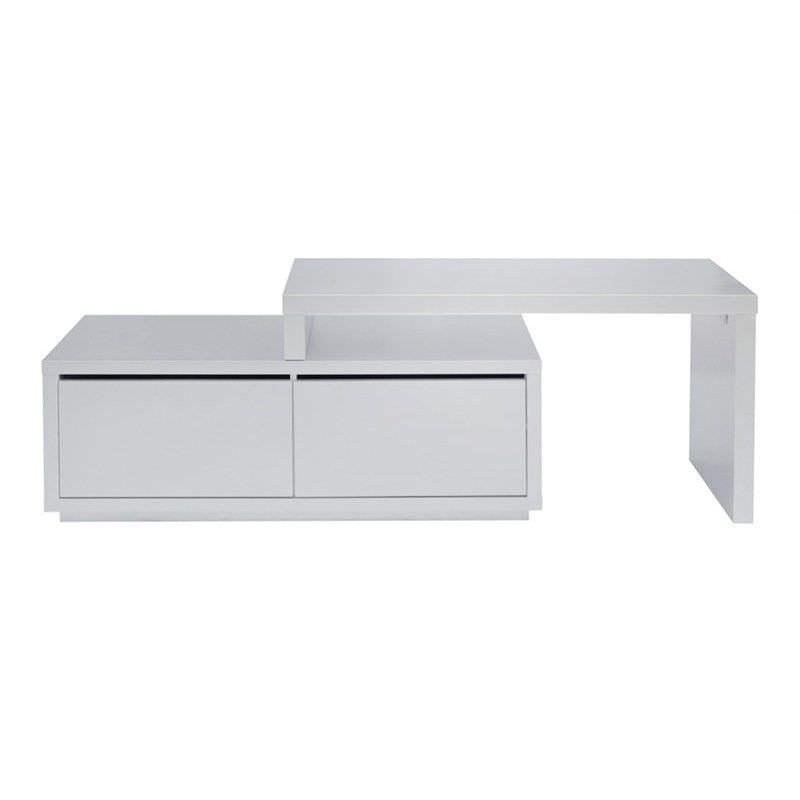 Yanna 2 Drawer 220 cm Adjustable TV Unit - Matte Silver